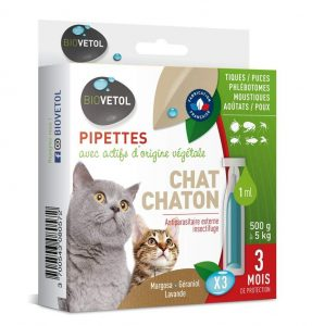 pipette anti puce chat efficace